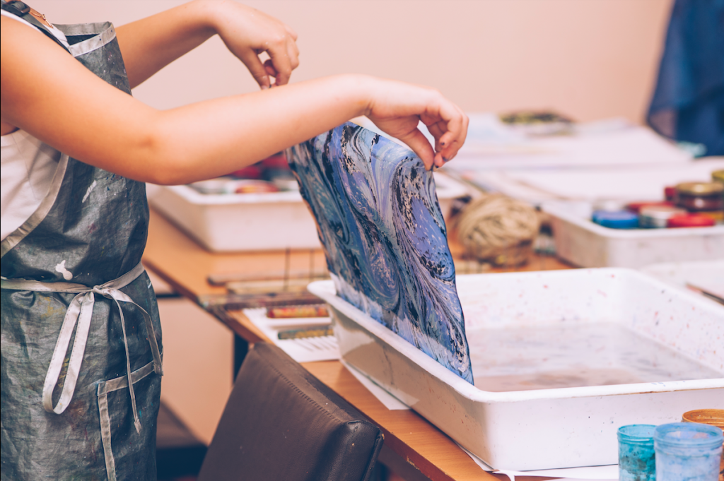 Wear Your Art On Your Sleeve At This Silk Marbling Workshop