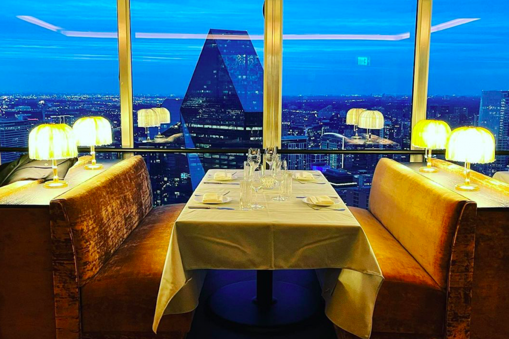 Regal New Dallas Restaurant Gives Diners An Epic View Of The City From The 49th Floor