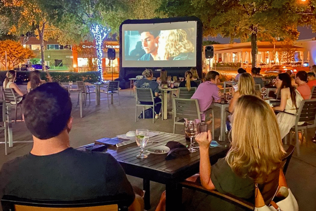 Date Right At This Gorgeous Backyard Cinema For Dinner And A Movie