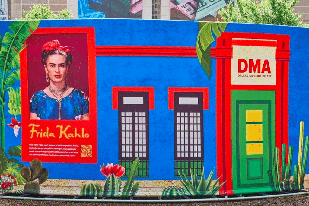 The DMA Is Setting Up Frida Kahlo Pop-Up Art Pieces In Local Dallas Communities