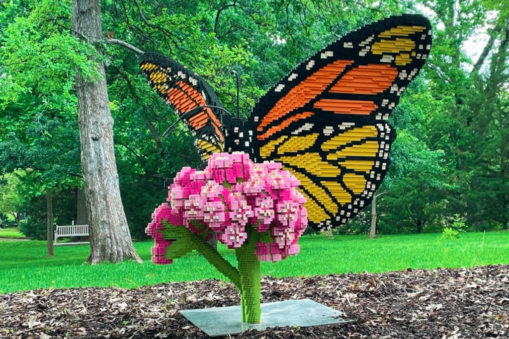 Life-Size LEGO Sculptures Blend Imagination And Nature At The Fort Worth Botanical Garden