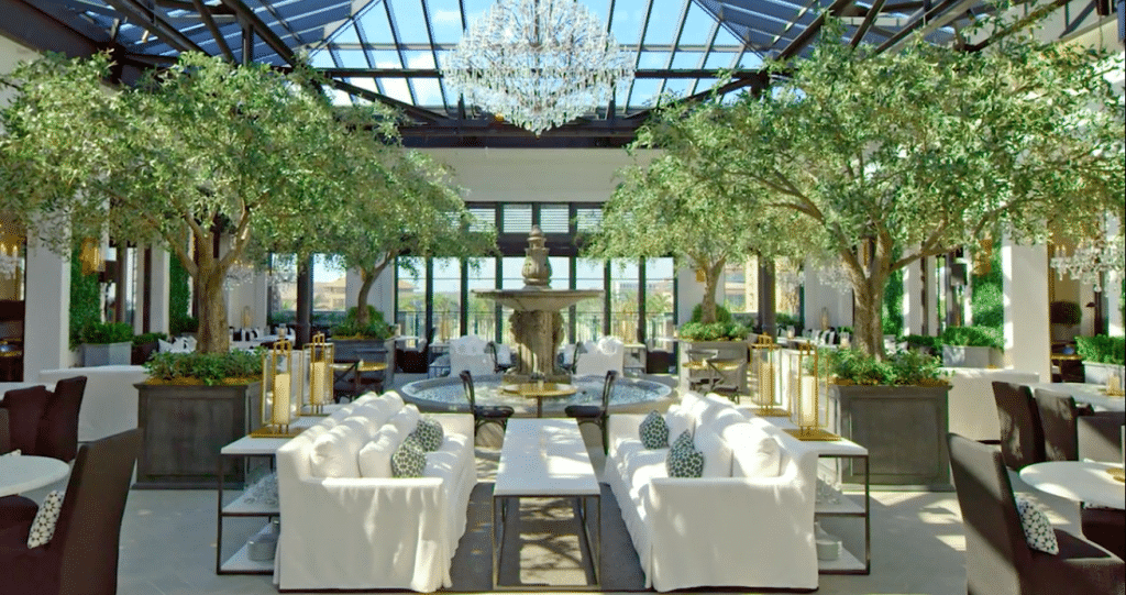 New Glass-Encased Rooftop Restaurant Sets Table On Stunning Three-Story Luxury Store